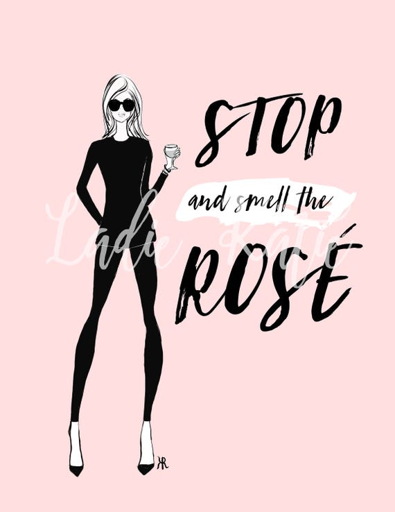 Wine lover, wine art, Fashion print, girly print, Fashion illustration, Fashion sketch, rosé lover, girly art, gifts for her,