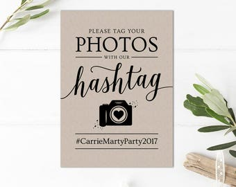 Wedding Hashtag Sign Printable // Printable Hashtag Sign for Wedding // Social Media Wedding Sign Instant Download
