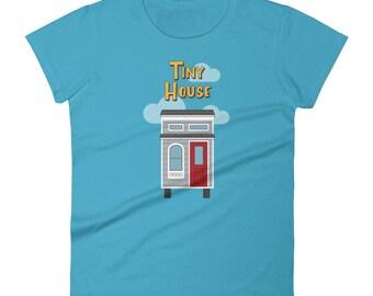 Full House / Tiny House Mashup - Women's short sleeve t-shirt