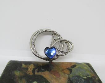 Vintage Swirl Heart Pin