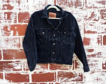 Vintage Levis Black Denim Jacket Jean Jacket 90s
