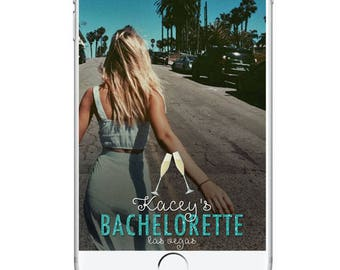 Bachelorette Party Geofilter Snapchat Filter, Birthday Snapchat Filter, Champagne Bachelorette Geofilter, Las Vegas Snapchat Party Filter