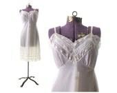 40 white Slip,  large Vintage Slip, 40 Full Slip ,  60s Full Slip, 1950s white Slip, Vintage Lingerie, Vanity Fair Slip