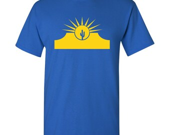Mesa City Flag T Shirt - Royal