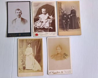 Our Ancestors Long Ago Antique Photograph Cabinet Card --- Victorian Edwardian Era Home Decor --- Vintage Memories Old Haunted House Style