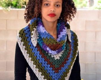 Crochet Triangle Scarf/ Shawl Scarf