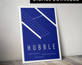 HUBBLE (Printable Poster, Minimalist Print, Wall Art, Graphic Poster, Modern Art Print, Typographic Poster)