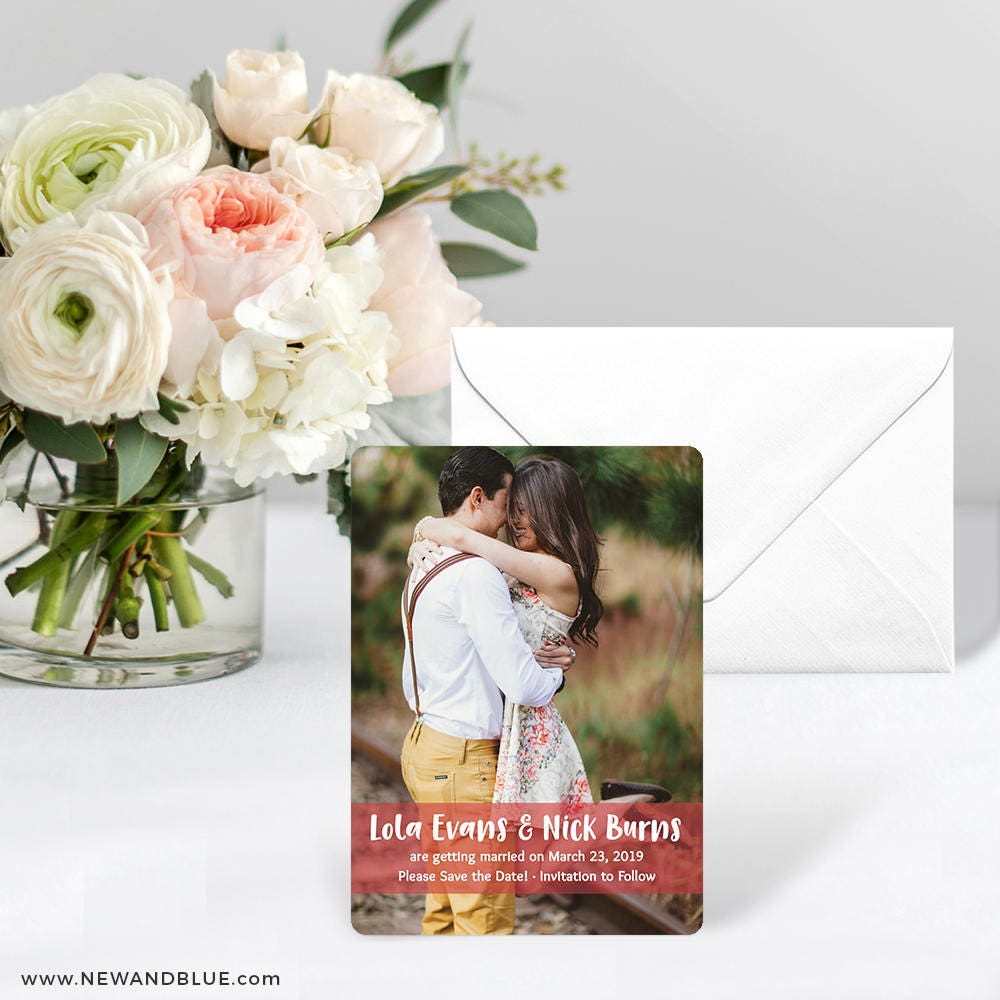breckenridge card save the date includes back side printing