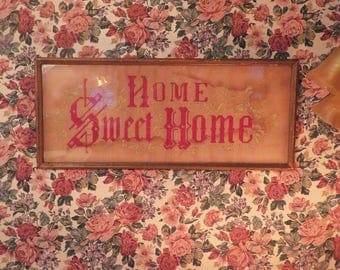 Victorian Sampler - Home Sweet Home - An Authentic American Classic - Very Old