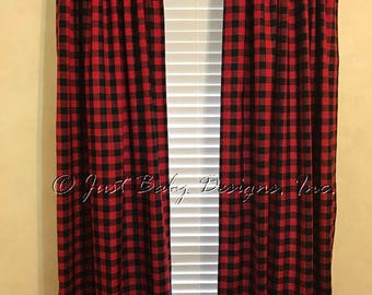 Check Curtains Etsy