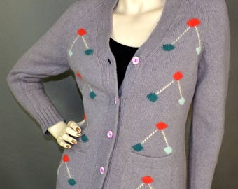 Atomic 1950s 1960s Cardigan Sweater