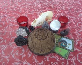 Bast's Offering Altar - Altar Tile - Pagan Altar - Small - Ash Wood - High Quality
