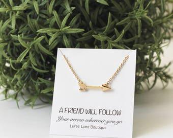 Arrow necklace/Dainty arrow necklace/Arrow pendant/Friendship necklace/Best friend necklace/Bridesmaid necklace/Birthday necklace