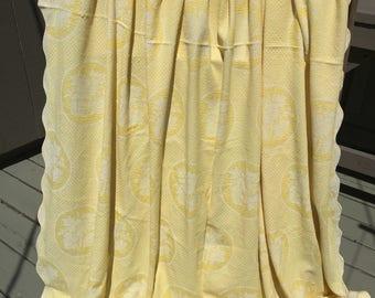 Bates blanket vintage yellow bedspread throw cotton summer