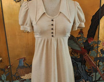1970s Heather Babydoll Mini Dress - Small