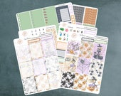 Halloween Witch, Halloween Planner Stickers,  Erin Condren, Halloween Stickers, Fall Stickers, Halloween Sticker Kit, Halloween Kit, WK-13