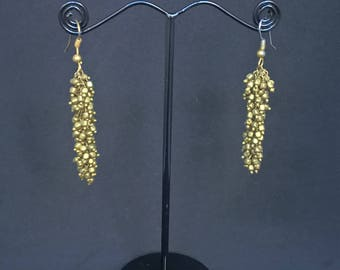 Gold Earrings | Gold Plated Fringe Earrings | Earrings for women