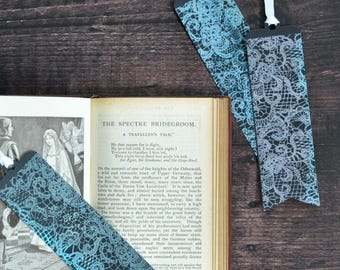 Artist Bookmark Set 3, Set of Three Collectible Handmade Bookmarks FREE UK SHIPPING Book Lover Gift stocking stuffer