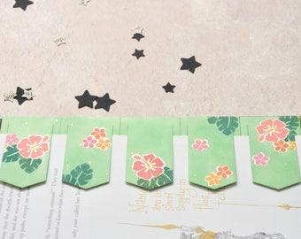 Tropical Shimmer Clip Bookmark Set, FREE UK SHIPPING Set of Five Handmade Artist Bookmarks Book Lover Bookworm Gift stocking stuffer