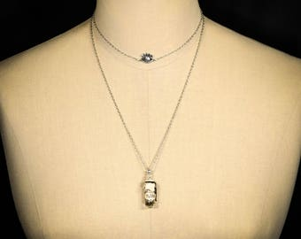 Tears Necklace - double layer necklale - antidote to sadness and tears - witchcraft - witch necklace