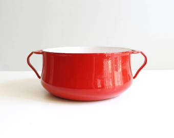 Dansk Kobenstyle Red Enamel Dutch Oven Pot Jens Quistgaard Danish Modern
