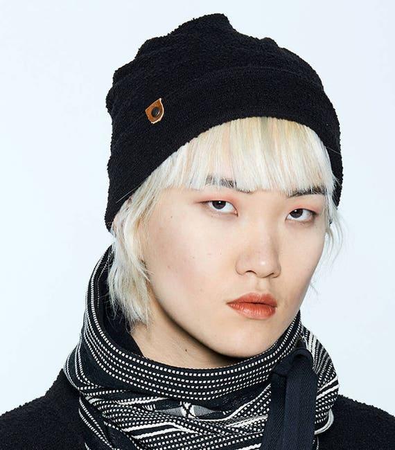NYTVA - fall unisex toque, hat, cap - black