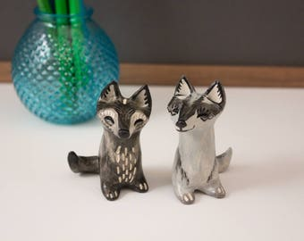 Animal Totem - Garden Guardian - Ceramic Hand Sculpted Critter - Made in Oregon - Wolf Portraits of the Wenaha wolf pack