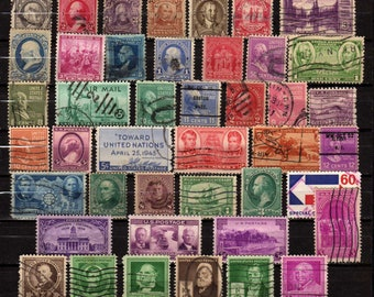 Lot Older US Stamps, Us Postage Stamps, United States Stamps,Postage Stamps, us Stamps, Stamps, us stamp Collection