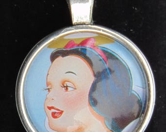 Snow White Upcycled Necklace