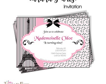 ooh la la Paris invitation