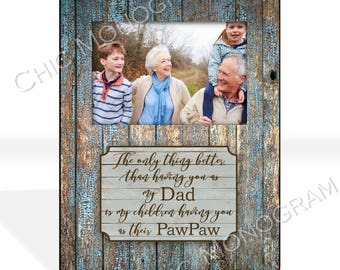 Gifts For Dad Custom Photo Frame New Grandfather Gift for Dad Custom Quote Frame Personalized Picture Photo Frame New Grandparent Gift