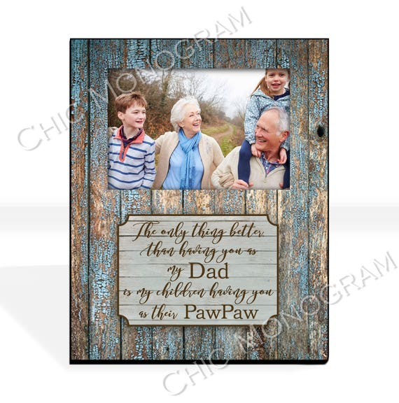 Christmas Gifts For Dad Custom Photo Frame New Grandfather Gift for Dad Custom Quote Frame Personalized Picture Photo Frame