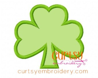 Shamrock Embroidery Design, Shamrock Applique Design, St. Patrick's Day Embroidery