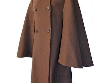 Wool cape coat | Etsy