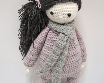 Elenna doll made with crochet
