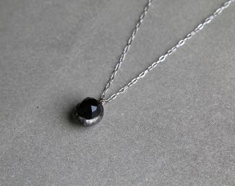Black Faceted Crystal Necklace - Protect From Evil - Good Mental Health - Unisex Necklace - Gifts for Him - Black Necklace by Modern Out