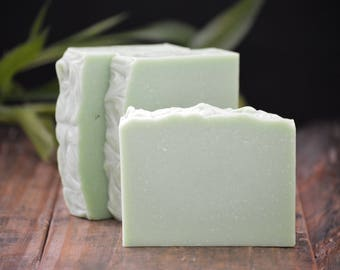 Bamboo Grass Soap | Fresh Scented Soap, Cold Process Homemade Soap, Gift Soap, Soap Bar, Hand Soap, Green Soap, Clean Aromatic Soap, Summer