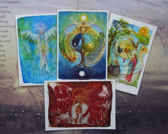 Set of 4 Mini Laminated Prints ~ Choose any 4 designs