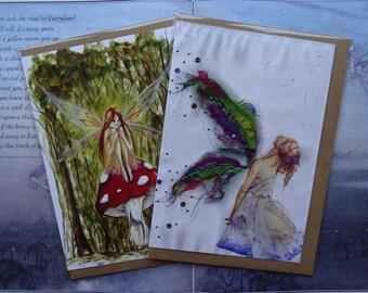 Fairies pack of 2 A5 Art Cards