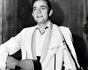 Johnny Cash in a photo taken in the 1950's
