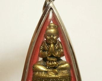 Guman kuman thong gumantong boy LP Nane magic spirit Thai amulet pendant good luck wealth prosperity lucky gamble gift Thailand talisman