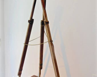 Rustic Tripod Surveyor Tripod Lamp Industrial Adjustable