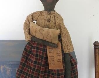 Primitive Americana Black Doll