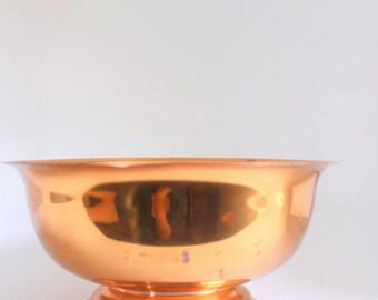 Copper Bowl, Vintage Copper Bowl, Copper Fruit Bowl, Copper Planter, Vintage Fruit Bowl, Coppercraft, Coppercraft Bowl, Copper Kitchen