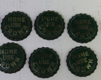 Vintage Lot of 10 NOS Unused Cork-Lined Crown Home Use Beer / Soda Bottle Caps Free Shipping  Domestic USA