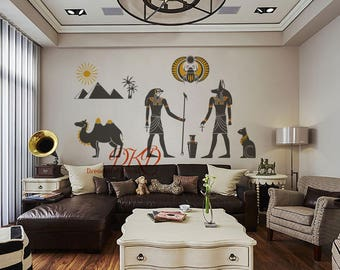 Ancient Egypt Decals, Egyptian Wall Art, Gods Of Ancient Egypt, Camel,Desert, Egyptian Mythology Wall Decal, Ancient Cultural Decal-DK305