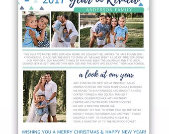 Year in Review Template - Christmas Email template - Printable Christmas Newsletter Template