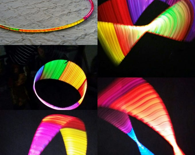 Ranibow Color Shifting High Intensity Color Shifting Reflective Performance Polypro Hula Hoop 3/4 or 5/8 This is not an LED Hula Hoop