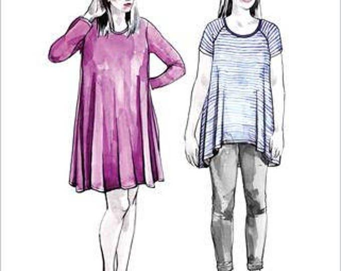 Ebony Knit Dress and Tee- Closet Case Patterns