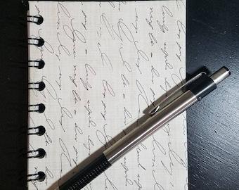 Script Mini Notebook - Mini Journal Wire Bound Notebook Contact Book Art Journal Bullet Journal